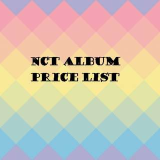 NCT Album price list