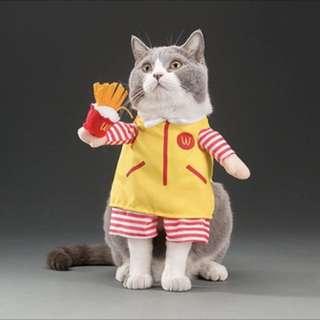 Mcd dog cat costume clothes