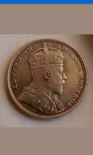 Old Coin Strait settlement King Edward vii  $1 1904