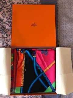 Hermes 90 silk scarf