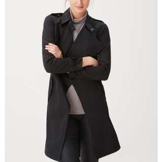 歐美風中長款顯瘦風衣外套