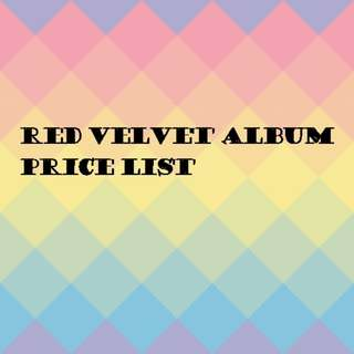 Red velvet album price list