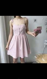 INSTOCK: Blush Pink Plaid Dress