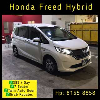 Honda Freed Hybrid MPV - Grab Car Rental