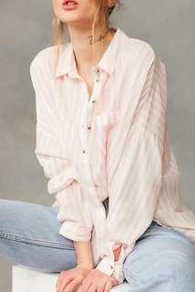 NCR1058 Stripe Loose Shirt (S,M,L)