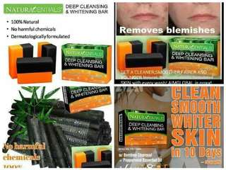 Cleansing and whitening soap