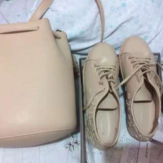 Charles and Keith shoes and bag