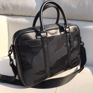 Coach Perry Slim Brief in Blackout Mixed Materials