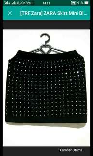 ZARA TRF Skirt Black manik