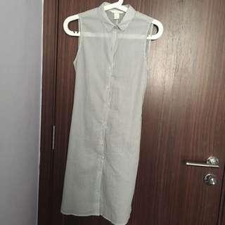 H&M Vertical Stripe Sleeveless Dress