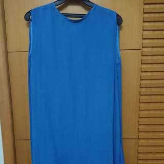 La feta 連身裙 連身洋裝 38號 藍色 二手