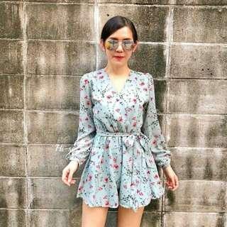 Floral short jumpsuit