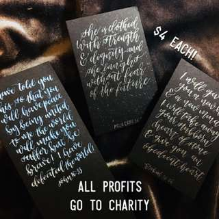 LETTERING CARDS FOR CHARITY