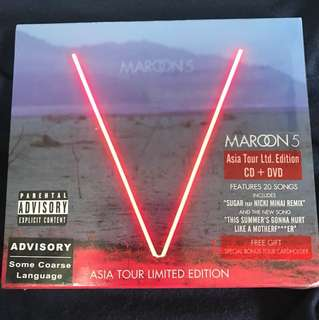 MAROON 5 V ASIA TOUR LIMITED EDITION CD+DVD ( BRAND NEW)
