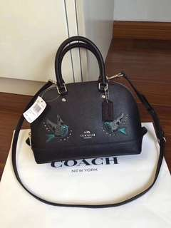 Coach Mini Sierra Satchel with Bird Embroidery