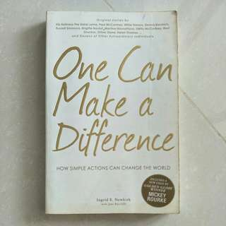 One can Make a Difference by Ingrid E. Newkirk
