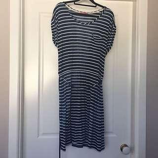 Esprit blue striped dress