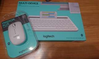 Logitech bluetoith keyboard + Mouse
