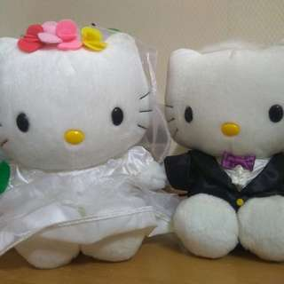 Hello Kitty結婚公仔一套