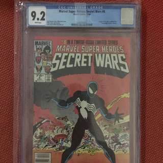 Marvel Secret Wars #8 CGC 9.2 (First Appearance Black Suit Spider-Man)