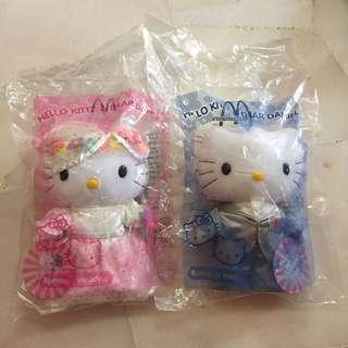Romantic Wedding Hello Kitty Plushie McDonald's Year 2000 Collection