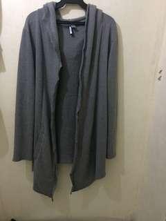 surplus cardigan with hood