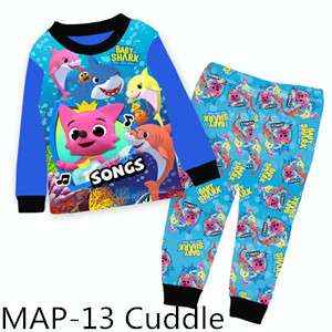 Baby Shark Boy Long sleeve pajamas MAP13