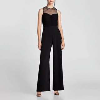 NCP1430 Elegant Polka Dot Sheer Jumpsuits