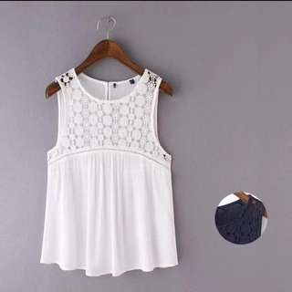 Instock Laced Sleeveless Top (Free Mailing)