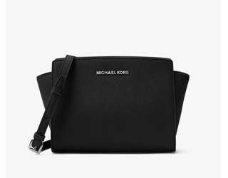 Michael Kors Selma Medium Saffiano Leather Messenger