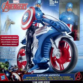 Captain America with Battle Cycle