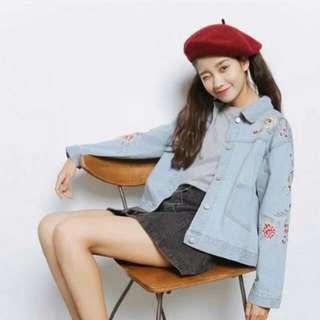 Korean Embroidered Denim Jacket