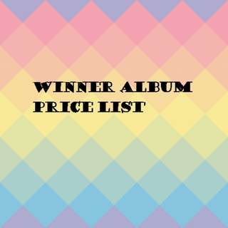 Winner album price list