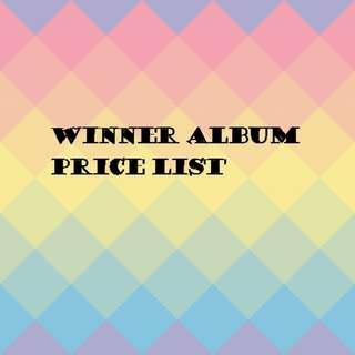 Winner album price list