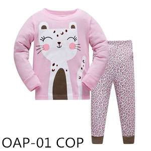 Hello Pink Cat Long sleeve Pajamas