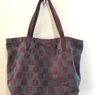 Authentic Loewe canvas tote bag (dyed)