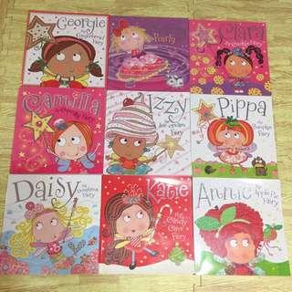 Girl's glittering fairy books set 9 books -almost new