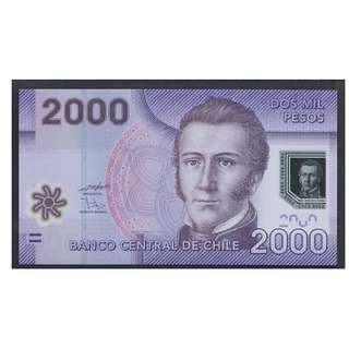 (BN 0112-1) 2009 Chile 2000 Pesos, Polymer Note - UNC