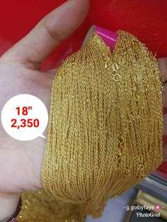 18k Necklace Gold