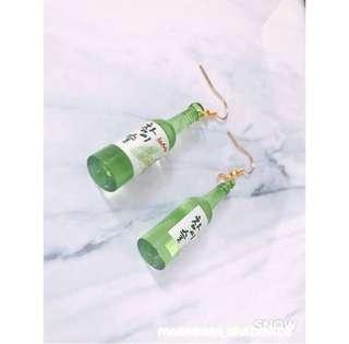 酒瓶耳環 $10