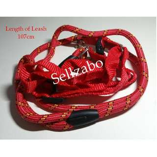 Red Strass Harness Pets Leash Sellzabo Strap Medium Size Animals