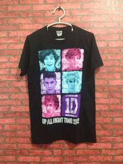 One Direction Tour 2012 T-shirt Made In Honduras