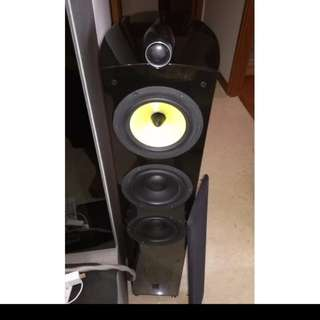 Mistral 3 Way high end audiophiles bass reflex rear ported floor standing speaker in gloss black