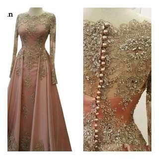 Pre-order)Saudi Arabia Evening Dresses 2018 Dubai Kaftan Lace Appliques Beaded Beautiful Elegant Party Moroccan Long Muslim Formal Gowns