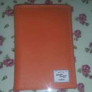 Passport holder in orange
