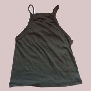 Dark green tank top stretchable