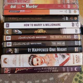 SGD 10 for 12 FULL SET Brand New English Classic  Movie DVDs