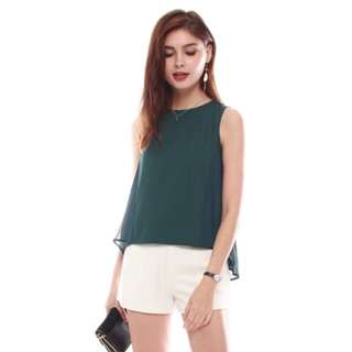 BNWT ACW Pleated Swing Top in Emerald