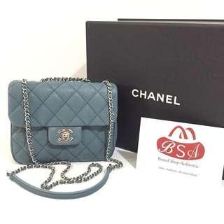 New Chanel Urban Companion Small Blue Caviar SHW #25