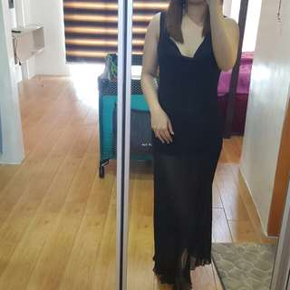 Sale @ 350 Black long dress see through lakas makasexy